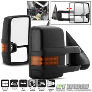2014 Style 1999 02 Chevy Silverado Sierra Power Heated Led Signal Tow Mirrors