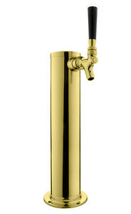 Kegco Dt145 1p asc 14 Pvd Brass 1 tap Tower 100 Stainless Contact
