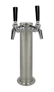 Kegco Dt145 2bs 630ss 14 2 tap Brushed Stainless Steel Tower Perlick Faucets
