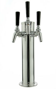 Kegco Dt145 3s 630 14 Polished Stainless 3 faucet Tower Perlick Faucets