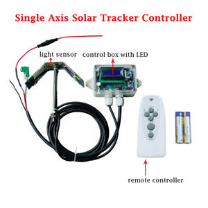 Eco Solar Tracker Tracking Single Axis Electronic Controller Solar Panel System