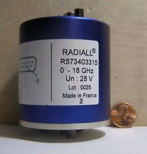 Radiall Sma Rf Coaxial Switch R573403315 0 18ghz 28v Sma 25 Pin Dsub Connector