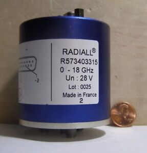 Radiall Sma Rf Coaxial Switch R573403315 0 18ghz 28v Made In France Lot 0025