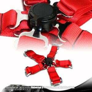 Universal Red Heavy Duty 5 Point Camlock Safety Harness Racing Seat Belt Buckle