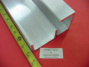 2 Pieces 3 x 1 75 Aluminum Channel 6061 X 26 Flang 14 Long T6 Mill Stock