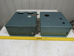 16 x14 x6 Electrical Box Enclosure Panel W Back Plate Wall Mount Lot 2
