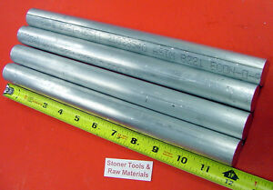 4 Pieces 1 Aluminum 6061 Round Rod 12 Long Solid Extruded Bar New Lathe Stock