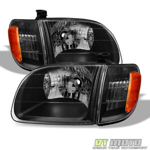 For Blk 2000 2004 Toyota Tundra Regula access Cab Headlights Headlamp Left right