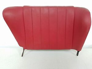 Nice Used Porsche 911 912 Targa Passenger Rear Seat Back Red Leatherette