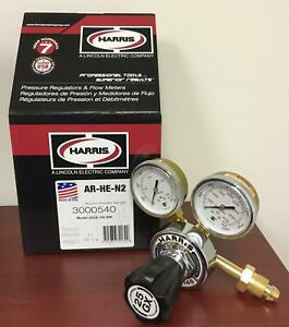 Harris Single Stage Regulator Argon helium nitrogen W knob 3000540 25gx 145 580