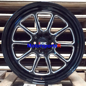 Xxr 557 Wheels 17 X 8 35 Black Machine Lip Rims 5x114 3 06 15 16 Honda Civic Si