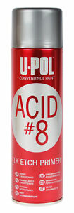 U Pol 741v Acid 8 Gray 1k Etch Primer Aerosol Spray 450 Ml Upo741v