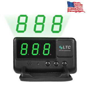 Us Universal Car Gps Speedometer Hud Head Up Display Mph Km H Overspeed Alarm