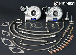 Mamba 2x Gtx Turbo Full Line Bolt on Kit 700hp For Nissan Skyline Gtr R33 Rb26
