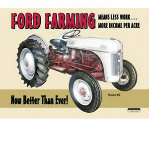 Vintage Replica Tin Metal Sign Ford Farming Jubilee Model Tractor 8n 9n New 758