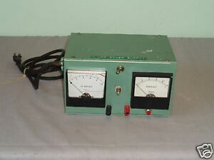Vintage Simpson Dc Amperes Volts D c Meter Power Supply For Parts Repair