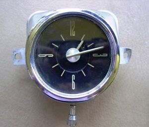 50 s 60 s Geo W Borg Corp Clock Rat Rod Ford Chevy Dodge Inventory Wet