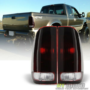 1997 2003 Ford F150 99 07 F250 F350 Superduty Red Smoke Tail Lights Brake Lamps