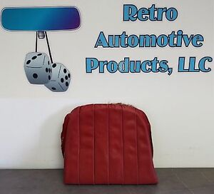 Used Orig Porsche 356b 356c Passenger Rear Seat Bottom Cushion Red Leatherette