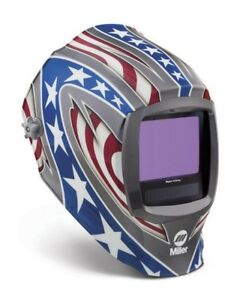 Miller Digital Infinity Adf Helmet 13 4sq In Viewable Stars Stripes 271330