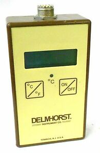Delmhorst Instrument Tm 100 Digital Lcd Moisture Meter Thermometer