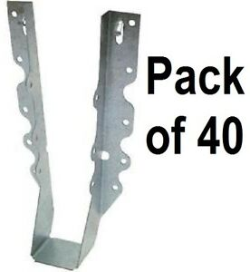 40 Pack Simpson Strong Tie Lu210 20 Gauge Steel 2 X 10 Face Mount Joist Hangers