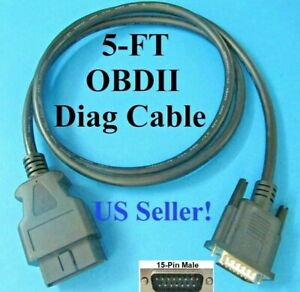 Obd2 Obdii Cable For Cen Tech Centech Models 98614 And 99722 Code Reader Scanner