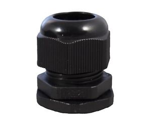 1 2 Npt Black Nylon Cable Glands With Gasket And Lock nut 10 Pack