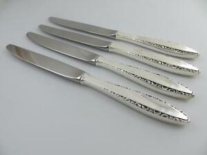 4 Knives Lace Point Lunt Sterling Silver Flatware 9