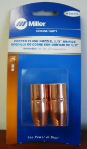 Miller Genuine Copper Flush Nozzle 1 2 Orifice For Mm140 180 211 2 pk 246372