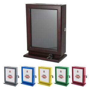 Adir Customizable Wood Plexiglass Suggestion Box Wall Mountable message Display