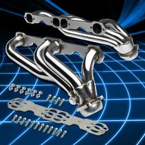 For 88 97 Chevy gmc C k 5 0 5 7 V8 Truck Stainless Steel Header Manifold Exhaust