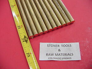 10 Pieces 5 16 C360 Brass Solid Round Rod 24 Long H02 312 Od Lathe Bar Stock