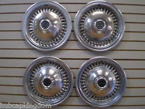 1977 1978 1979 Ford Thunderbird Wheelcover Wheel Covers Hubcaps Oem Set 77 78 79
