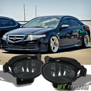 New Pair Smoked 2007 2008 Acura Tl Bumper Fog Lights Lamps W Bulbs Left right
