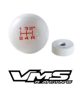 Vms White Red Fing Fast Shift Knob For 5 Speed Short Throw Shifter Lever M10x1 5