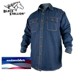 Revco Black Stallion Fr Flame Resistant Denim Work Shirt Fs8 dnm