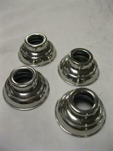 1938 1947 Ford Pickup Truck Stainless Door Handle Crank Escutcheons Set Of 4