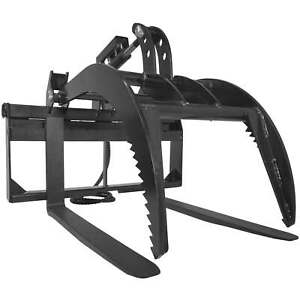 42 Pallet Fork Grapple Attachment Skid Steer Loader Tine Rake Bucket