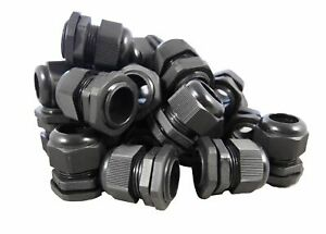 Pg21 Black Nylon Waterproof Strain Relief Cord Grip Cable Gland 13 18 Mm 50pcs