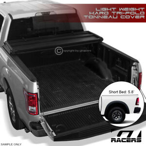 For 2009 2018 Dodge Ram Truck 5 7 68 4 Short Bed Tri fold Hard Tonneau Cover Lw