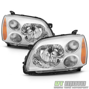 2004 2012 Mitsubishi Galant Chrome Halogen Headlights Headlamps 04 12 Left Right