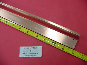 2 Pieces 1 4 x 1 C110 Copper Bar 14 Long Solid Flat Bar Mill Bus Bar Stock H02