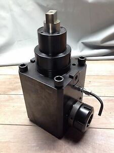 New Hwacheon Right 90 Degree Er40 Collet Live Tool Holder