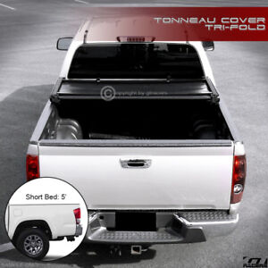 For 2016 2020 Toyota Tacoma With 5 Ft 60 Short Bed Tri Fold Soft Tonneau Cover