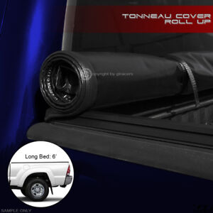 For 2016 2018 Toyota Tacoma 6 Ft 72 Long Bed Lock Roll Soft Tonneau Cover