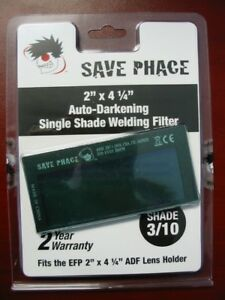 Save Phace Efp Auto darkening Filter Lens Shade 3 10 2 X 4 1 4 010028
