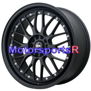 Xxr 521 18 X 8 5 35 Flat Black Lip Mesh Rims Wheels 5x114 3 15 16 Acura Tlx Rdx