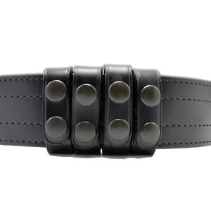 Perfect Fit Duty Belt Keepers 3 4 Plain Genuine Leather Black Snap Usa Made 4