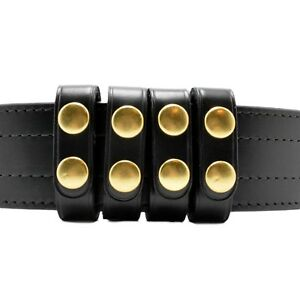 Perfect Fit Duty Belt Keepers 3 4 Plain Genuine Leather Brass Snap Usa Made 4